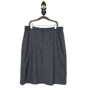 BANANA REPUBLIC | Wool Stretch Zip Skirt Pockets 8